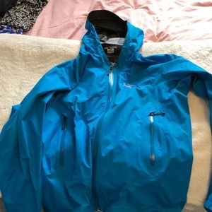 Bright blue Arcteryx jacket